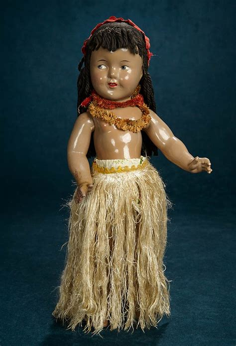 shirley temple collections  composition doll  ideal  hawaiian costume