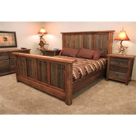 reclaimed wood bedroom furniture rustic reclaimed barn wood bed