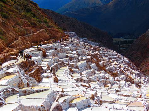 salinas  maras salt steps  peru image  stock