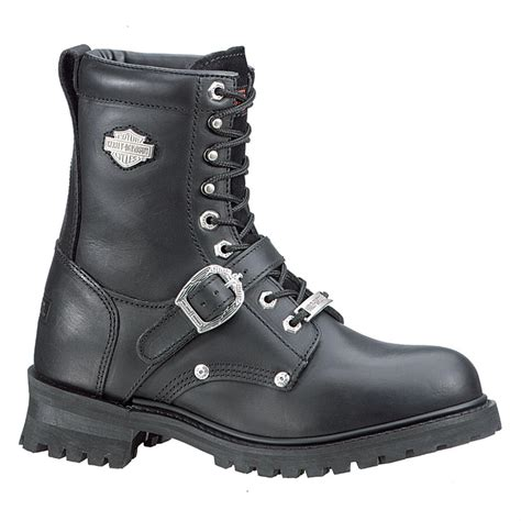 Women Harley Davidson Faded Glory Boots Black