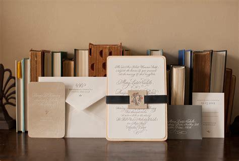 Mary Bens Elegant And Rustic Letterpress Wedding
