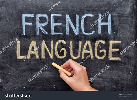 French Language Hand Drawing French Language Stock Photo
