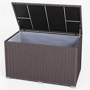 Auflagenbox Dänisches Bettenlager : xxl kissenbox wasserdicht polyrattan 950l anthrazit auflagenbox gartenbox gartentruhe ~ A.2002-acura-tl-radio.info Haus und Dekorationen