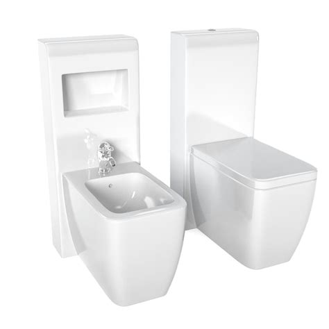 Toilet Bidet Set by 3d Contemporary Toilet Bidet