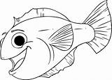 Fish Rainbow Coloring Template Inspiration Worksheets Bestcoloringpagesforkids Via sketch template
