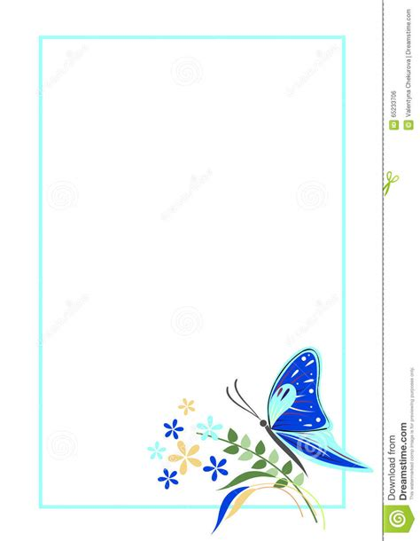 vector blank  letter  greeting card blue form