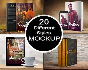 Amazing, 3d, Book, Cover, Mockup, In, 20, Different, Styles, For, 5