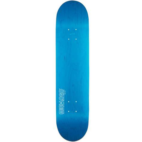 mini logo blue skateboard deck 7 75 quot at salty peaks