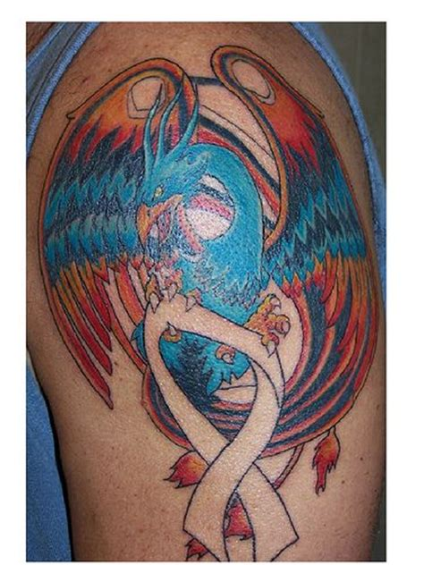 phoenix tattoo  session brain cancer ribbon tattoos japanese phoenix tattoo tattoos