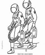 Coloring Pages Astronaut Printable Space Astronauts Printables Gemini American Help Usa Printing sketch template
