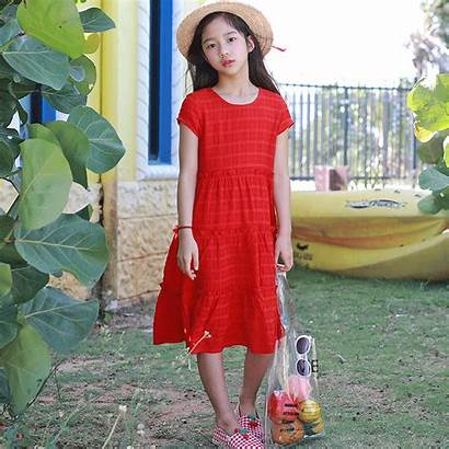 Dresses Princess Mother Pleated Daughter Lovely Children
