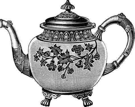 Free Vintage Clip Free Clip Images Vintage Teapot Oh So Nifty