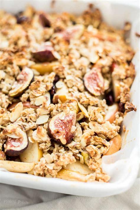 fig crisp recipe fall harvest fig pear and apple crisp plating pixels