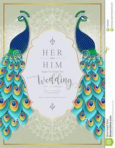 Wedding Invitation Card Templates . Stock Vector ...