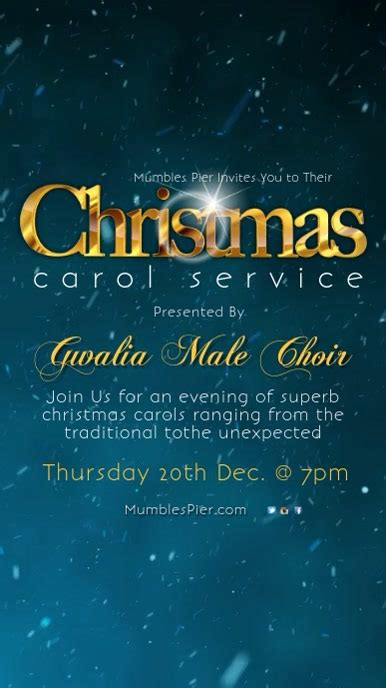 christmas carol service template postermywall