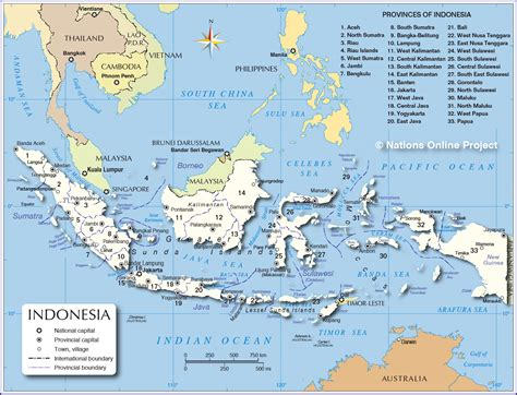 administrative map  indonesia nations  project