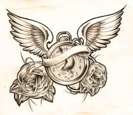 Clock Tattoo Design Sketches