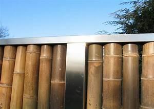 Bambus Sichtschutz Mit Edelstahl : bambus zaunelemente moderner sichtschutz ~ Frokenaadalensverden.com Haus und Dekorationen