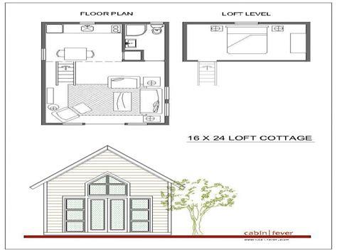 cottage floor plans free 16 x 24 cabin plans with loft studio design gallery