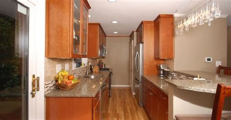 galley kitchen with peninsula virginia galley kitchens select kitchen and bathselect 3720