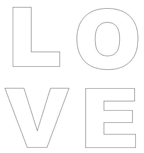 valentines day crafts print  love doorhanger letters