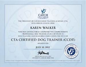 certification catch canine trainers academy With dog training certification