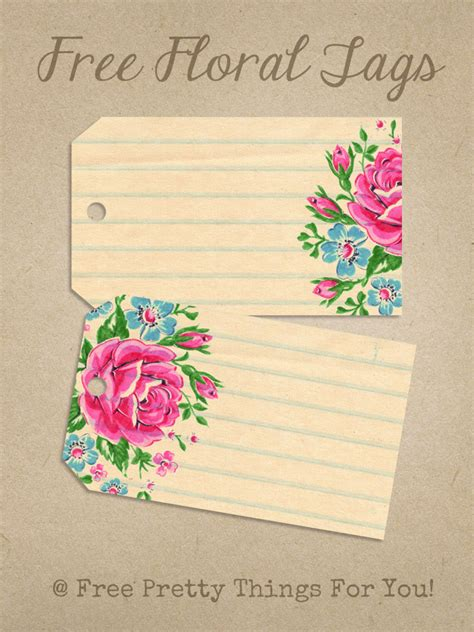We are the experts in master. Printable Labels: Pretty Floral Tags - Free Pretty Things For You