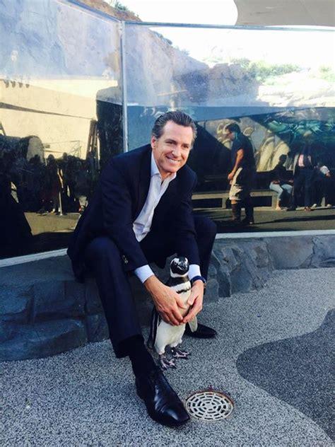 lieutenant governor meets newsom  penguin sfgate blog
