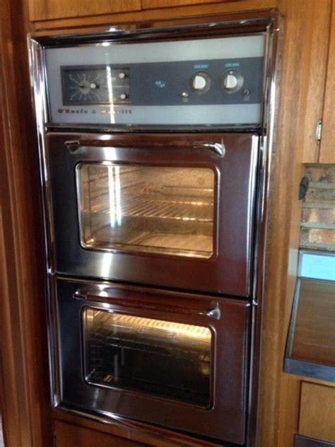 okeefe merritt antique stove vintage built  wall