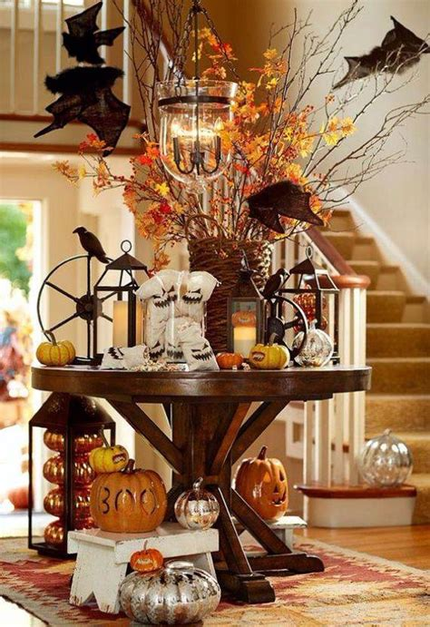 cute  cozy rustic fall  halloween decor ideas