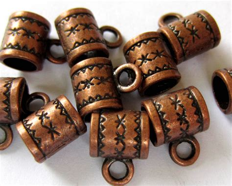 28 Copper Charm Hangers Jewelry Making Suppplies Pendant