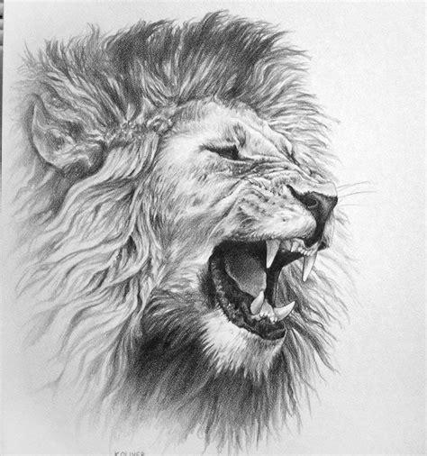 Roaring Lion Head Tattoo Stencil Tattoo Design