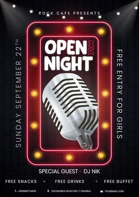 foto de Open Mic Night Flyer Free PSD PsdDaddy com