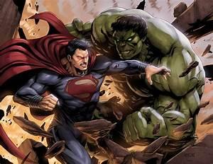Superman vs Hulk by SamDelaTorre on DeviantArt