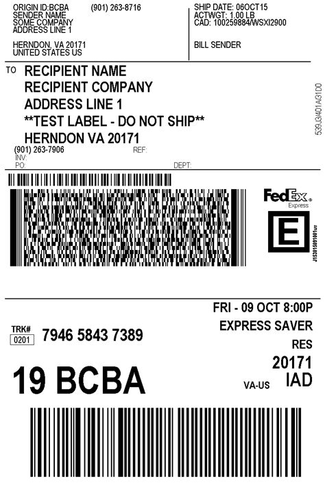 Fedex Label Template Word by Fedex Shipping Integration Odoo Apps
