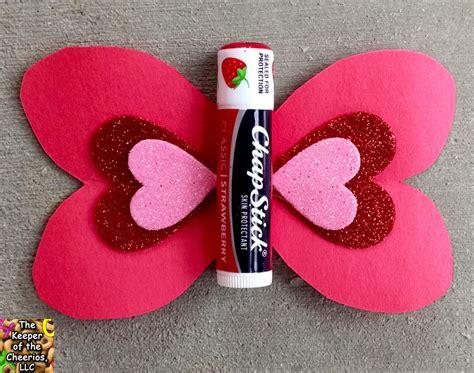 butterfly chapstick valentine  keeper   cheerios