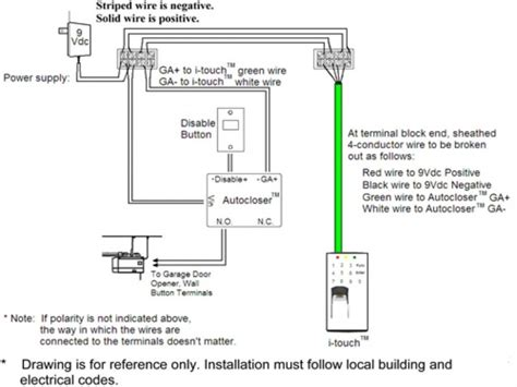 garage door opener safety switch wiring diagram