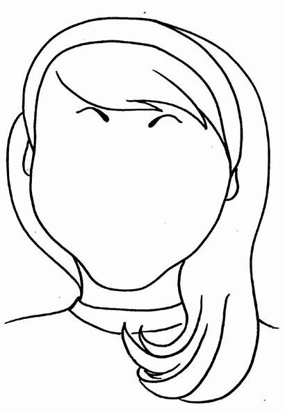 Coloring Face Pages Makeup Printable Head Hair
