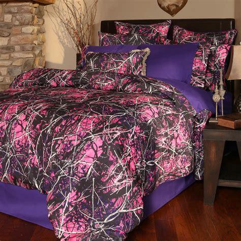 Purple Camo Bathroom Sets by Muddy 4 Bed Set