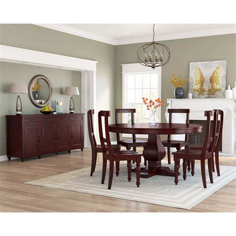 arenzville solid mahogany wood  piece dining room set