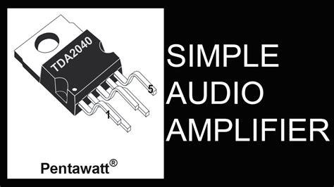 simple  fi audio amplifierhd youtube