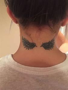 #angel #wings #tattoo #neck | Ink | Pinterest | Tattoo ...