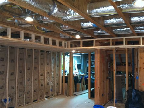 Soffit And Wall Framing  Basement Projects Pinterest