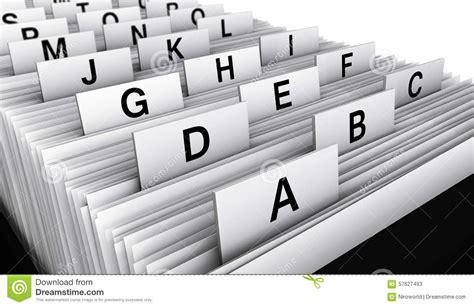 Répertoire De Fichiers De Client Professionnel Photo Stock