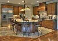 nice kitchen wood tile Nice transition from wood to tile floor & great island!   Kitchen   Pinterest   Feelings, Bar ...