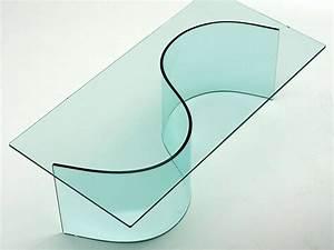 Curved Glass Base For Glass Table Siddartha