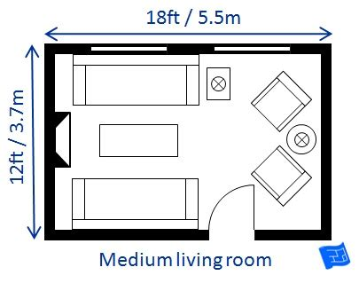 Living Room Plan Size by Medium Living Room Size Chalk Electrical Electricians