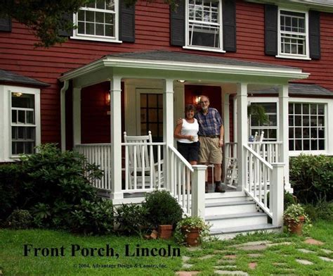 heres  traditional porch   front   classic  england colonial home  lincoln ma