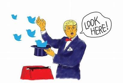 Trump Distract Tweets Opinion Issues Illustration Winley