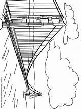Gate Bridge Golden Coloring Pages Wonders Adult Places Bridges Wereld Colouring York Fun Wonder sketch template